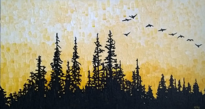 Black Spruce, Indian Yellow